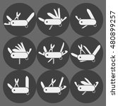 variation of folding knife flat ...   Shutterstock .eps vector #480899257