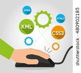 design language programming... | Shutterstock .eps vector #480902185