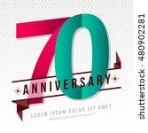 anniversary emblems 70... | Shutterstock .eps vector #480902281