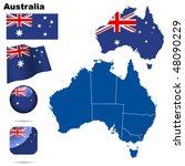 australia vector set. detailed... | Shutterstock .eps vector #48090229