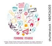 sketch feminine hygiene banner... | Shutterstock .eps vector #480926305