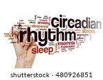 circadian rhythm word cloud... | Shutterstock . vector #480926851