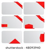 vector tags with banners and... | Shutterstock .eps vector #48093940