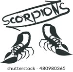 silhouettes of two scorpions... | Shutterstock .eps vector #480980365