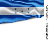 honduras flag of silk with... | Shutterstock . vector #480985897
