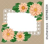 greeting card or invitation... | Shutterstock .eps vector #480988204