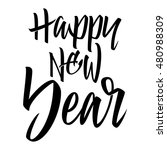happy new year. calligraphy.... | Shutterstock .eps vector #480988309