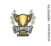 champions sports league logo ... | Shutterstock .eps vector #480990754