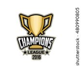 champions sports league logo  ... | Shutterstock .eps vector #480990805