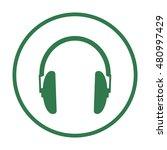 headphone  icon vector. flat...   Shutterstock .eps vector #480997429