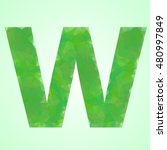 font w color green crystal...   Shutterstock .eps vector #480997849