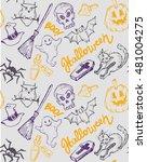 seamless pattern for halloween. ... | Shutterstock .eps vector #481004275