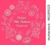 vector happy mid autumn... | Shutterstock .eps vector #481009225