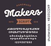 vintage handcrafted font.... | Shutterstock .eps vector #481012249