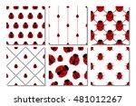 set of seamless vector patterns ...   Shutterstock .eps vector #481012267