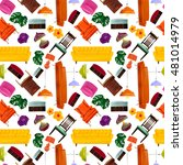seamless pattern with interior... | Shutterstock .eps vector #481014979