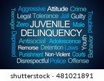 juvenile delinquency word cloud ... | Shutterstock . vector #481021891