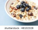blueberry muesli | Shutterstock . vector #48102328