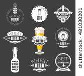 vector illustration with beer... | Shutterstock .eps vector #481030201