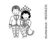 bridal couple java. cartoon... | Shutterstock .eps vector #481036231