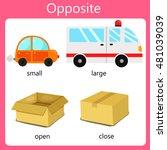 illustrator opposite set two | Shutterstock .eps vector #481039039
