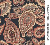 floral seamless pattern with... | Shutterstock . vector #481039981