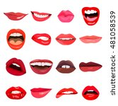 lips set. lip design element.... | Shutterstock . vector #481058539