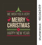 christmas and new year greeting ... | Shutterstock .eps vector #481063459