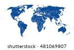 world map | Shutterstock .eps vector #481069807