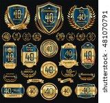 anniversary golden retro... | Shutterstock .eps vector #481070791