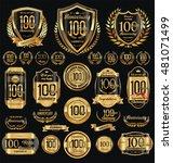 anniversary golden shields... | Shutterstock .eps vector #481071499