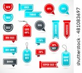 vector stickers  price tag ... | Shutterstock .eps vector #481083697