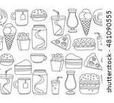 hand drawn vector doodle icons... | Shutterstock .eps vector #481090555