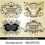 collection vintage frames | Shutterstock .eps vector #48109252
