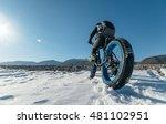 fat bike  also called fat bike... | Shutterstock . vector #481102951
