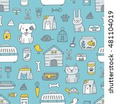 seamless pattern with cute... | Shutterstock .eps vector #481104019