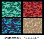 set of fashionable camouflage... | Shutterstock .eps vector #481118374