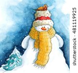A Snowman Illustration
