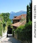 Menaggio town at the famous Italian lake Como - stock photo