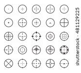 crosshair icon set. vector... | Shutterstock .eps vector #481129225