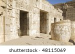 """The ancient ruins of the temple """"Medinat Habu"""" in """"Luxor"""" in Egypt - stock photo"""