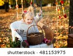 little girl in the autumn park | Shutterstock . vector #481153975