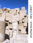 The Karnak Temple Complex, Luxor, Egypt. - stock photo