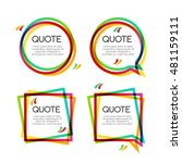 set quote frame  colorful... | Shutterstock . vector #481159111