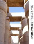 The Karnak Temple Complex, Great Hypostyle Hall . Luxor, Egypt. - stock photo