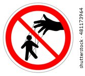 prohibiting round road sign.... | Shutterstock .eps vector #481173964