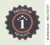 badges  premium quality label ... | Shutterstock .eps vector #481176757