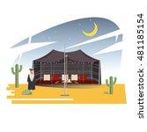 ramadan majlis tents. arabian... | Shutterstock .eps vector #481185154