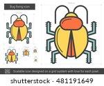 bug fixing vector line icon... | Shutterstock .eps vector #481191649