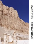 Fragment  Temple of Queen Hatshepsut at Luxor .Egypt - stock photo